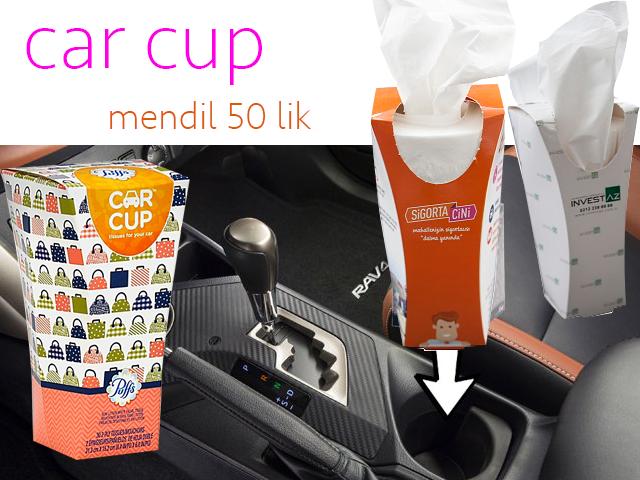 Car Cup Kutu mendil 40'lık - KM 133