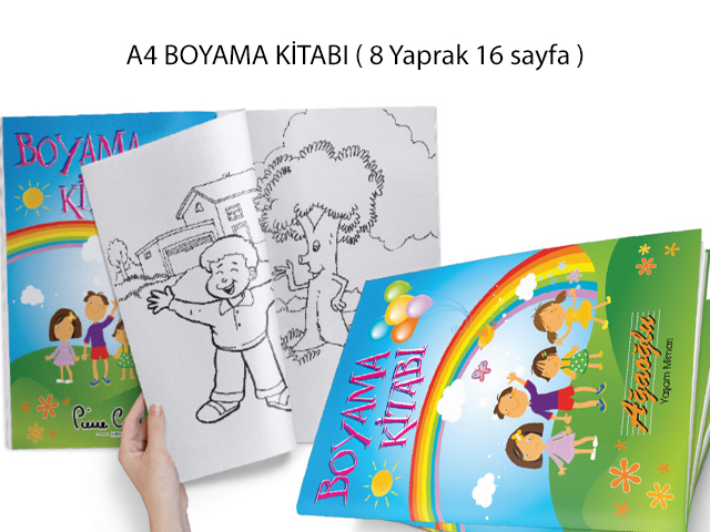 A4 Boyama Kitabı (21x29,7 cm) - MB 12