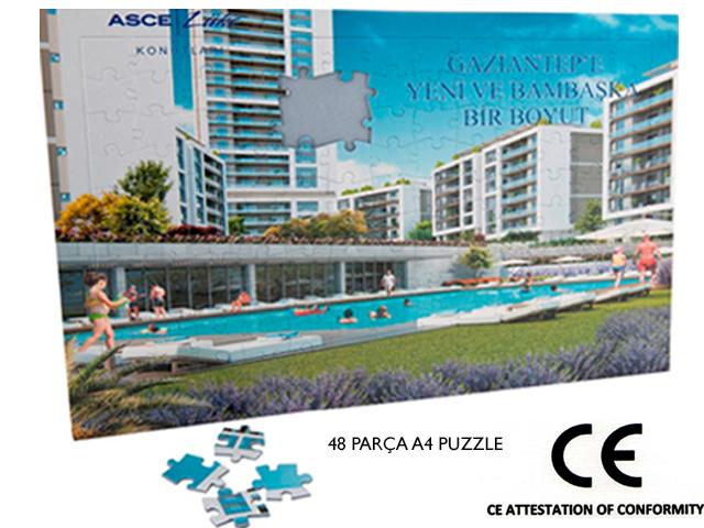 A4 Puzzle ( YAPBOZ ) 50 Parça - MB 17